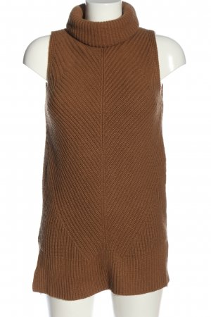 Hugo Boss Turtleneck Sweater brown cable stitch casual look