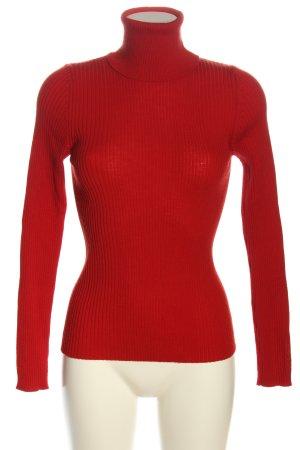 Hugo Boss Turtleneck Sweater red casual look