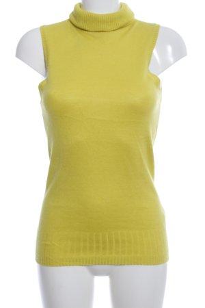 Hugo Boss Top con colletto arrotolato giallo pallido stile casual