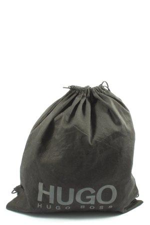 Hugo Boss Rolltop Backpack brown printed lettering elegant