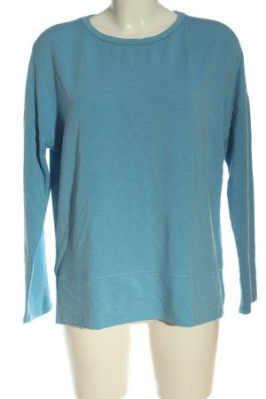Hugo Boss Rundhalspullover blau Casual-Look
