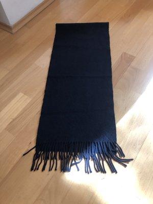 Hugo Boss Sciarpa con frange blu scuro