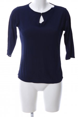 Hugo Boss Schlupf-Bluse blau Casual-Look