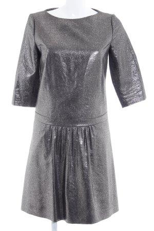Hugo Boss Vestido peplum color plata elegante