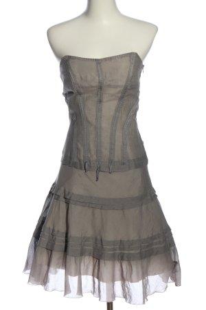Hugo Boss schulterfreies Kleid hellgrau-wollweiß extravaganter Stil