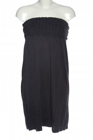 Hugo Boss Vestido strapless negro look casual