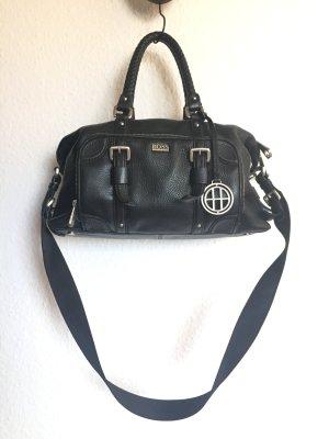 Hugo Boss Shoulder Bag black leather