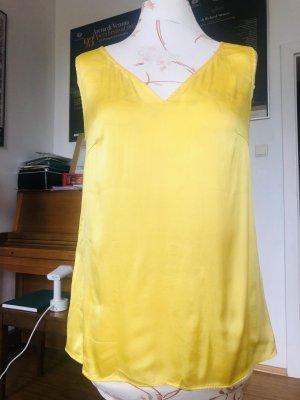 Hugo Boss Jedwabna bluzka żółty
