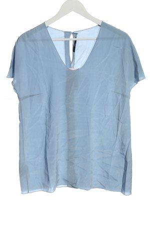 Hugo Boss Blusa in seta blu stile casual