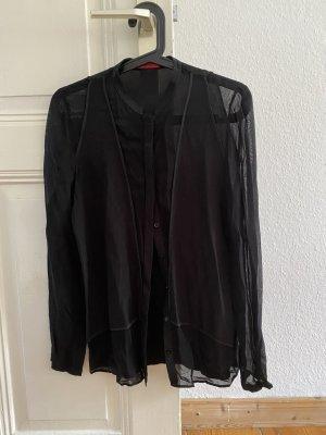 Hugo Boss semi-transparente Bluse