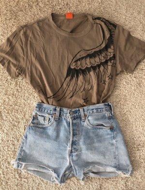 Hugo Boss T-shirt beige-gris brun
