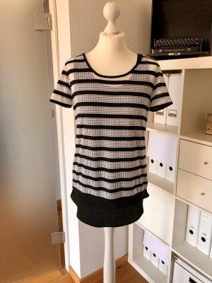 HUGO Hugo Boss Camisa de malla negro-blanco