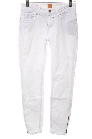 Hugo Boss Skinny Jeans weiß Casual-Look