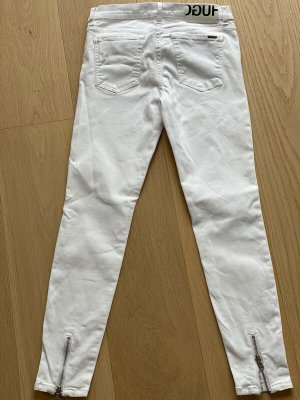 """Hugo Boss Slim Fit Jeans """"Gilljana/6"""" weiß stretch Skinny w26 (evtl. w27) XS-S 34-36"""