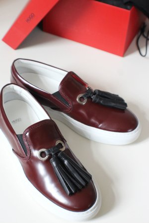 HUGO BOSS Slipper, dark red, NEU