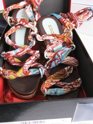 Hugo Boss Sandalias de tacón con plataforma multicolor