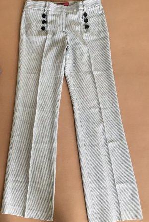 Hugo Boss Marlene Trousers blue-white cotton