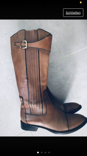 Hugo Boss Riding Boots cognac-coloured leather