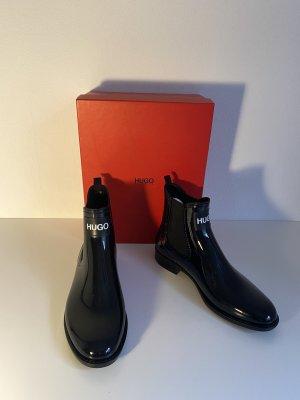 Hugo Boss Wellington laarzen zwart-wit
