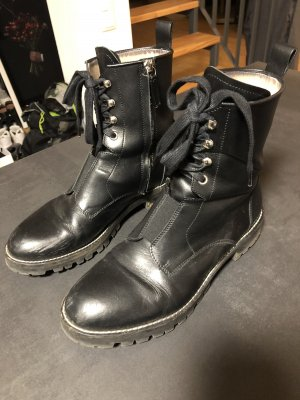 HUGO Boss Stiefeletten Leder schwarz