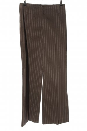 Hugo Boss Stoffhose braun-weiß Streifenmuster Business-Look