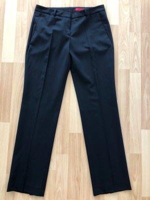 Hugo Boss Pantalon à pinces noir laine