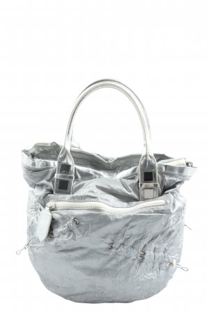 Hugo Boss Canvas Bag light grey allover print casual look