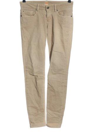 Hugo Boss Straight-Leg Jeans creme Streifenmuster Casual-Look