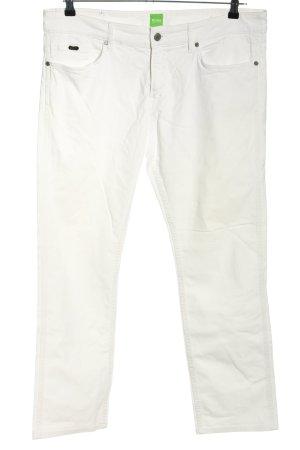 Hugo Boss Straight-Leg Jeans weiß Casual-Look