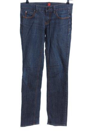 Hugo Boss Jeans a gamba dritta blu stile casual