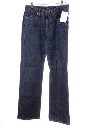 Hugo Boss Straight-Leg Jeans blau-goldfarben Casual-Look