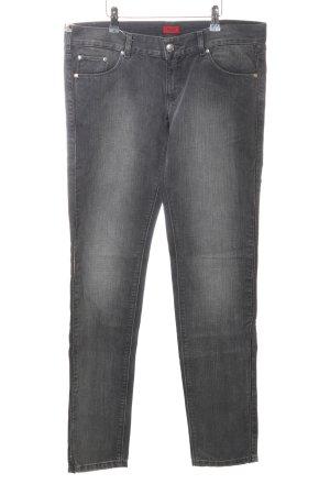 Hugo Boss Jeansy z prostymi nogawkami czarny W stylu casual