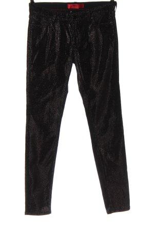 Hugo Boss Spodnie ze stretchu czarny W stylu casual