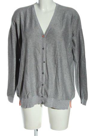 Hugo Boss Cardigan tricotés gris clair moucheté style décontracté