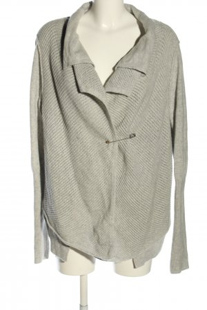 Hugo Boss Knitted Cardigan light grey cable stitch casual look