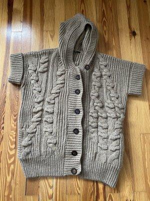 Hugo Boss Veste tricotée en grosses mailles beige