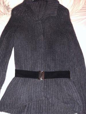 BOSS HUGO BOSS Cardigan a maglia grossa grigio scuro-argento