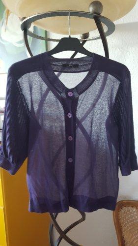 Hugo Boss Strickjacke Pullover violett Puff Plissee Gr36 *top*