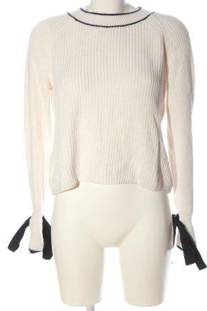 Hugo Boss Maglione lavorato a maglia bianco sporco stile casual