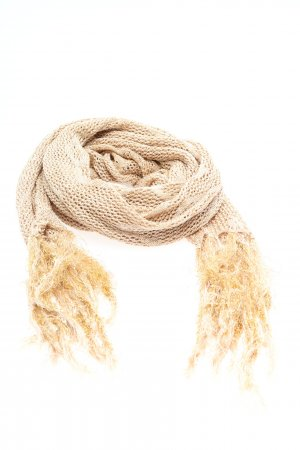 Hugo Boss Knitted Scarf cream casual look