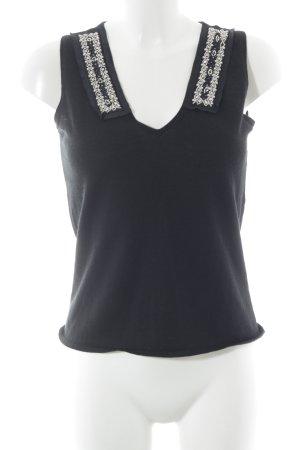 Hugo Boss Stricktop schwarz-silberfarben Elegant