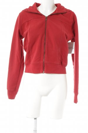 Hugo Boss Chaqueta de tela de sudadera rojo estilo deportivo