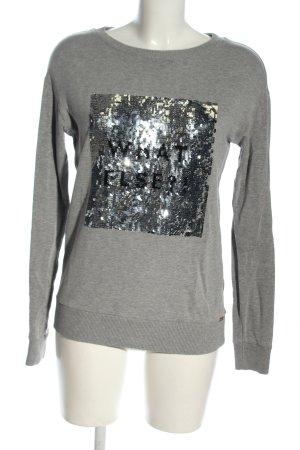 Hugo Boss Sweat Shirt light grey flecked casual look