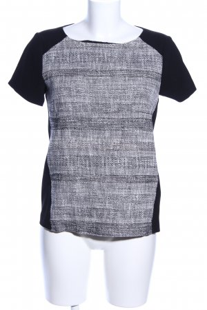 Hugo Boss T-Shirt schwarz-hellgrau meliert Casual-Look