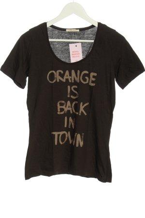 Hugo Boss T-Shirt braun-nude Motivdruck Casual-Look