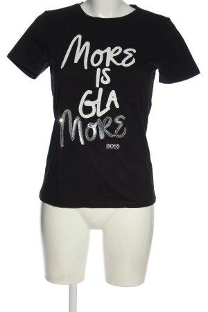 Hugo Boss T-Shirt Schriftzug gedruckt Elegant