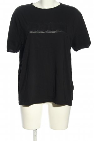 Hugo Boss T-Shirt schwarz-hellgrau Motivdruck Casual-Look