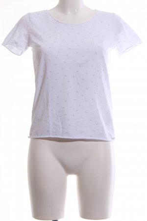 Hugo Boss T-Shirt weiß-hellgrau Punktemuster Casual-Look