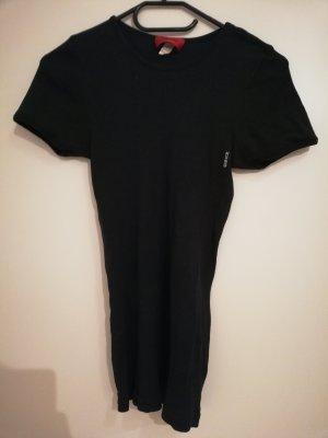 HUGO Hugo Boss Prążkowana koszulka czarny