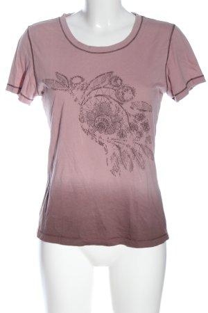 Hugo Boss T-Shirt pink Motivdruck Casual-Look